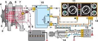 —5. Схема соединений системы генератора 37.3701