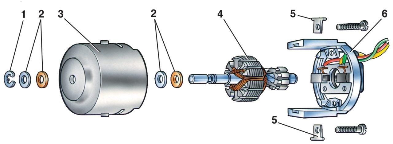 Схема включения электродвигателя пружинными шайбами в кожухе вентилятора отопителя схема включения отопителя в м412.