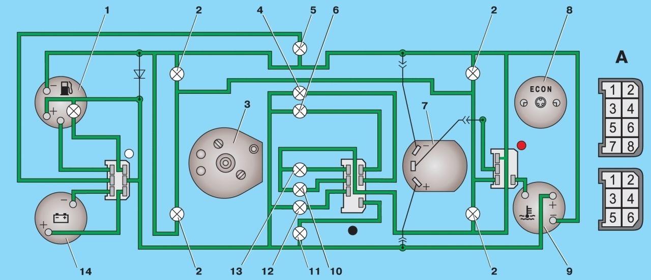 Контрольные лампы (Ауди A6 1997-2004: Инструкция по.