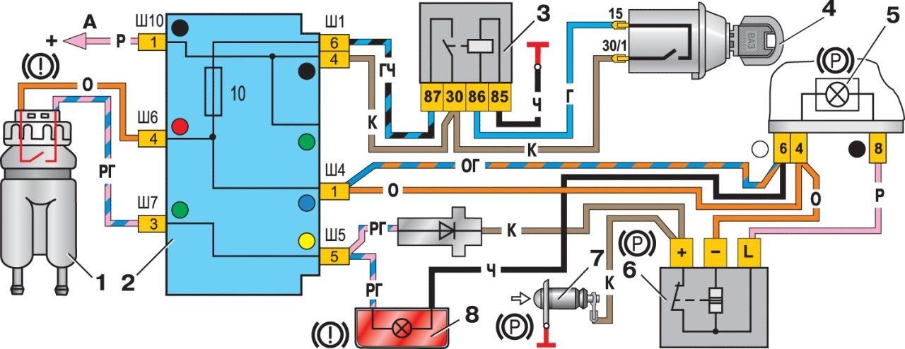 Схема подключения датчика топлива ваз2110.