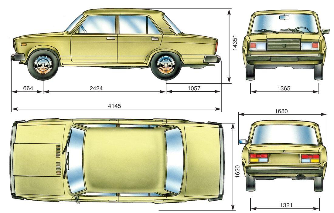 Технические характеристики Ваз 2107