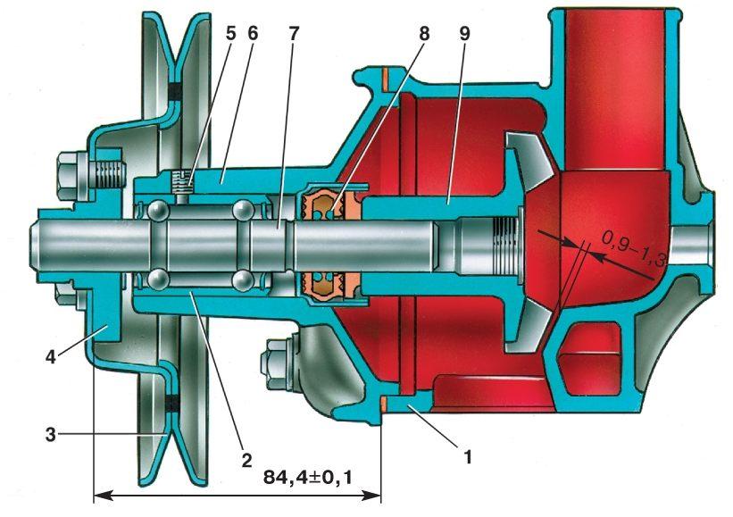 11 Насос охлаждающей жидкости Ваз 2107 Разборка Для разборки насоса.