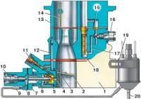 —83. Схема системы холостого хода карбюратора 2107-1107010