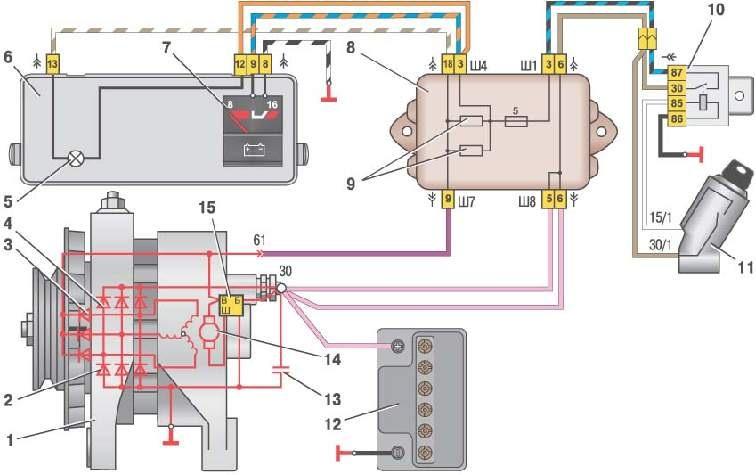 батарею в сети лада-калина