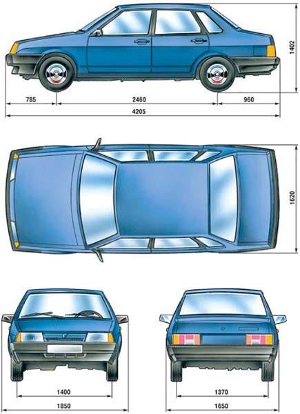 """Модель ВАЗ 21099 выпускается с 1990 года.   """"Девяносто девятая """" - это, в сущности,  """"девятка """" с четырехдверным..."""