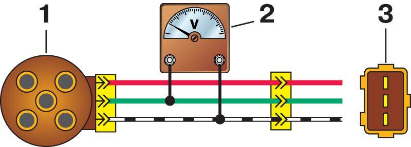 1- датчик-распределитель зажигания.  2- вольтметр, имеющий предел шкалы не менее 15 В и внутреннее сопротивление не...