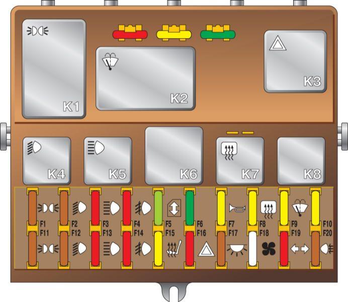 Электрическая схема приборов освещения зил-433360.