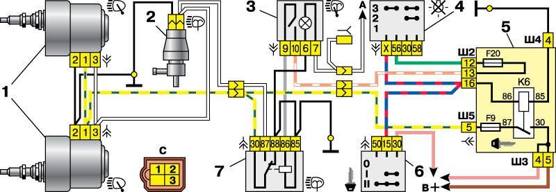 Схема монтажного блока ваз 2112 инжектор 16