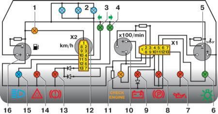схема контроля тимпературы двигателя ваз 2110.