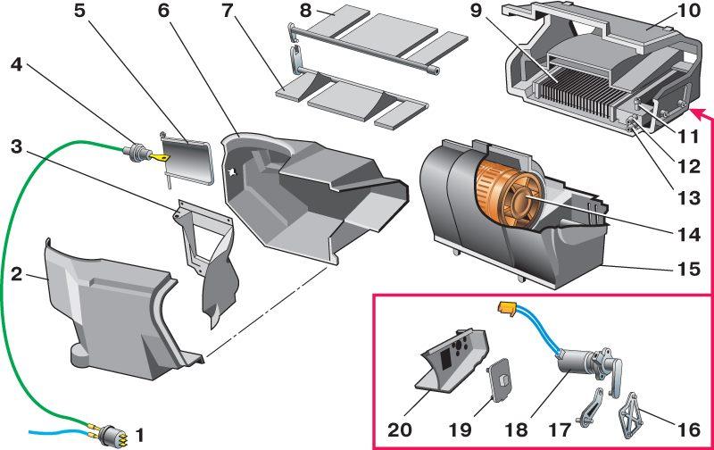 Схема сауо ваз 2110 европанель.  Проверяем сам микромоторедуктор.