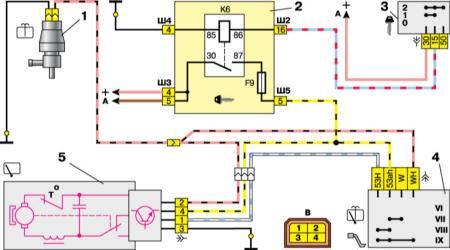 Схема системы блока управления закрытия дверей ваз 2111.