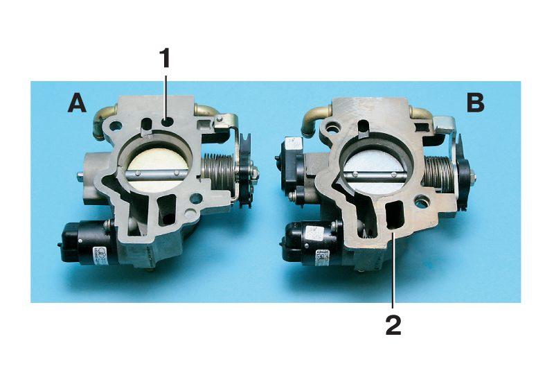 Дроссельные узлы двигателей ВАЗ-21114(А) отличаются от дроссельных узлов двигателей ВАЗ-21124, и ВАЗ-21126 (В)...