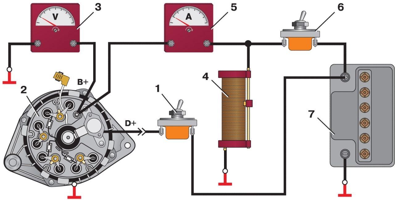 Схема подключения генератора ваз 4