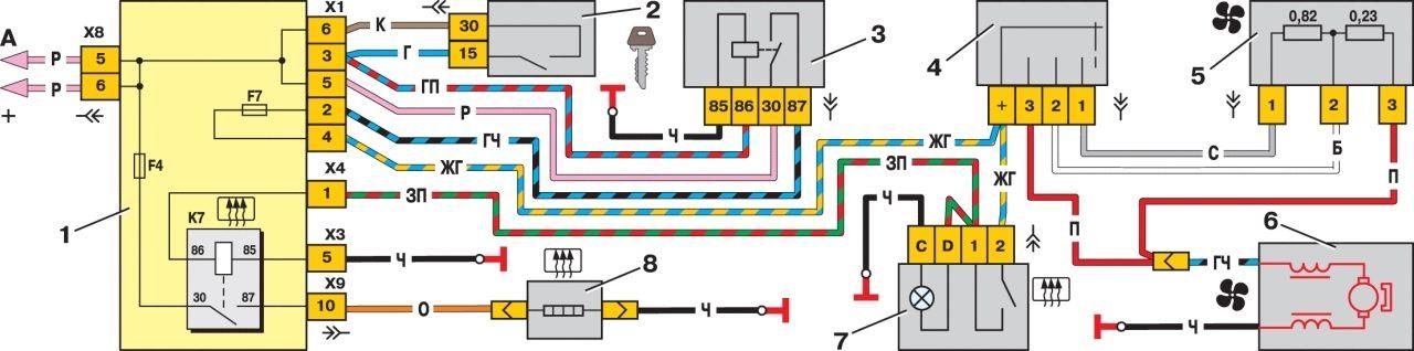 Электродвигатель вентилятора отопителя Ваз 2115 Лада.