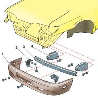 Детали переднего бампера