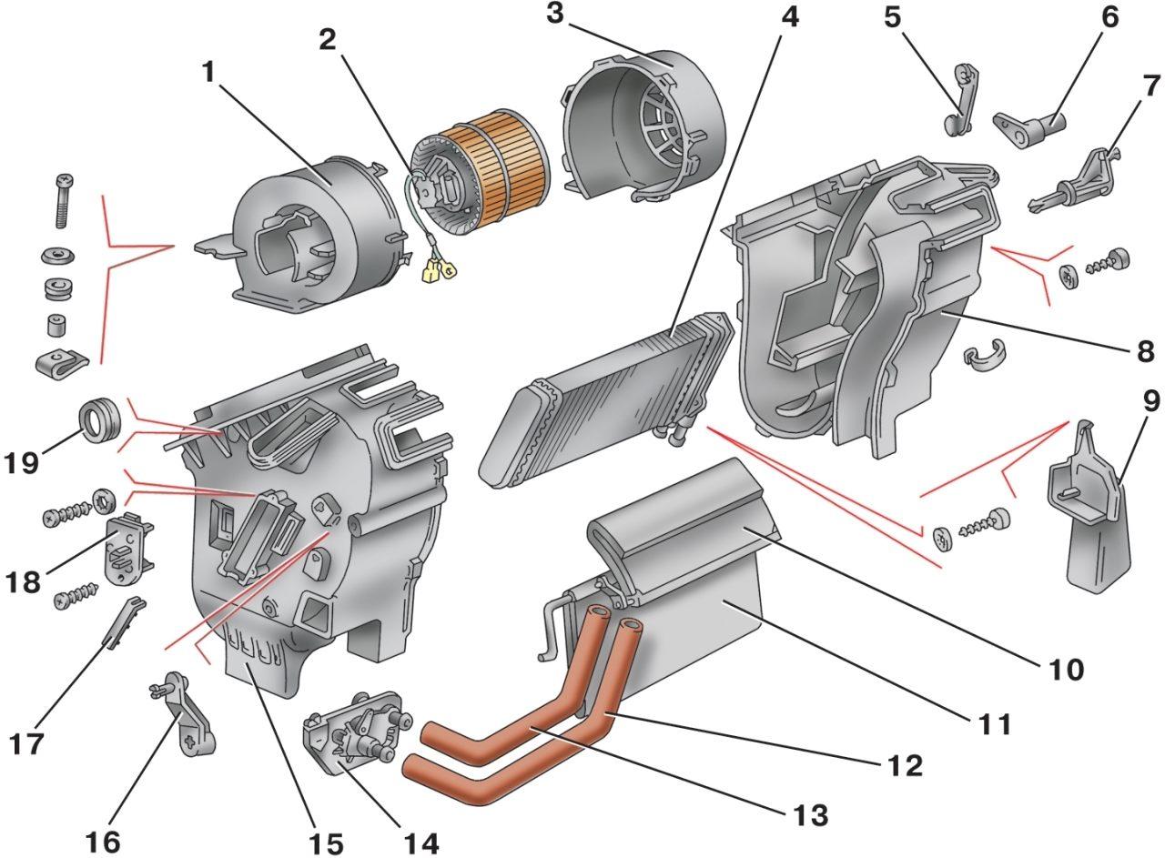 Снятие и установка отопителя Ваз 2115 Лада.