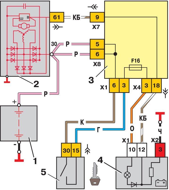 Электронная схема b ваз 2113 /b Схемы.
