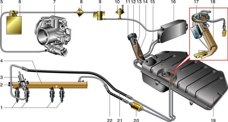 Схема питания двигателя ваз 2115