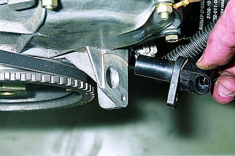 Схема датчика положение коленчатого вала.