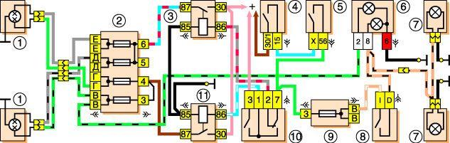 Приведены электрические схемы ВАЗ.