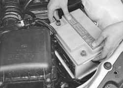Снятие и установка аккумуляторной батареи