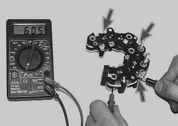 Фото №17 - проверка щеток генератора ВАЗ 2110