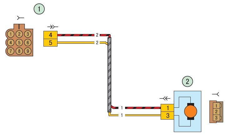 Схема 8. Соединения жгута проводов задней двери - Схемы.