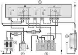 Схема включения элемента обогрева заднего стекла