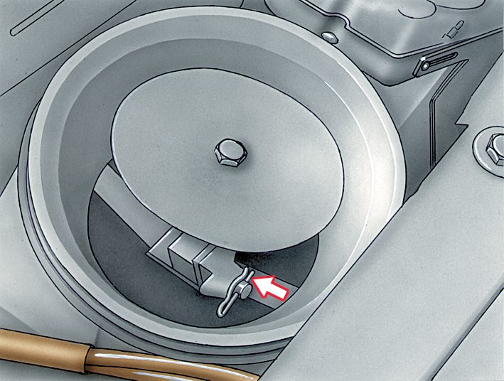 Golf II (инжектор) Как отрегулировать пластину измерителя расхода воздуха.