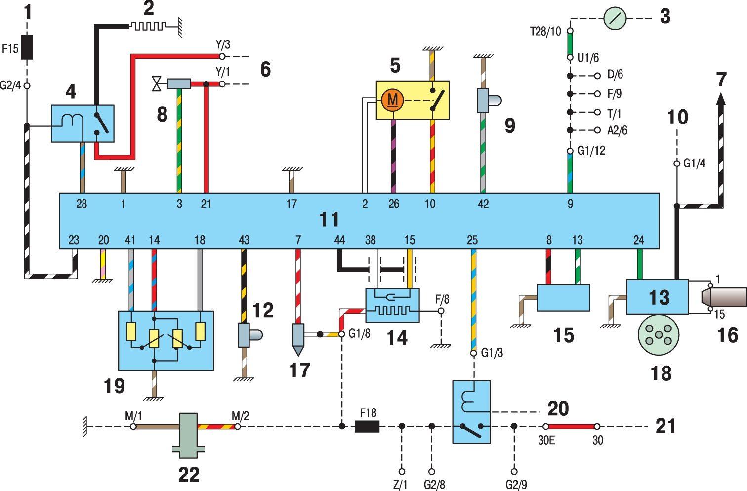 Схема реле топливного насоса ауди