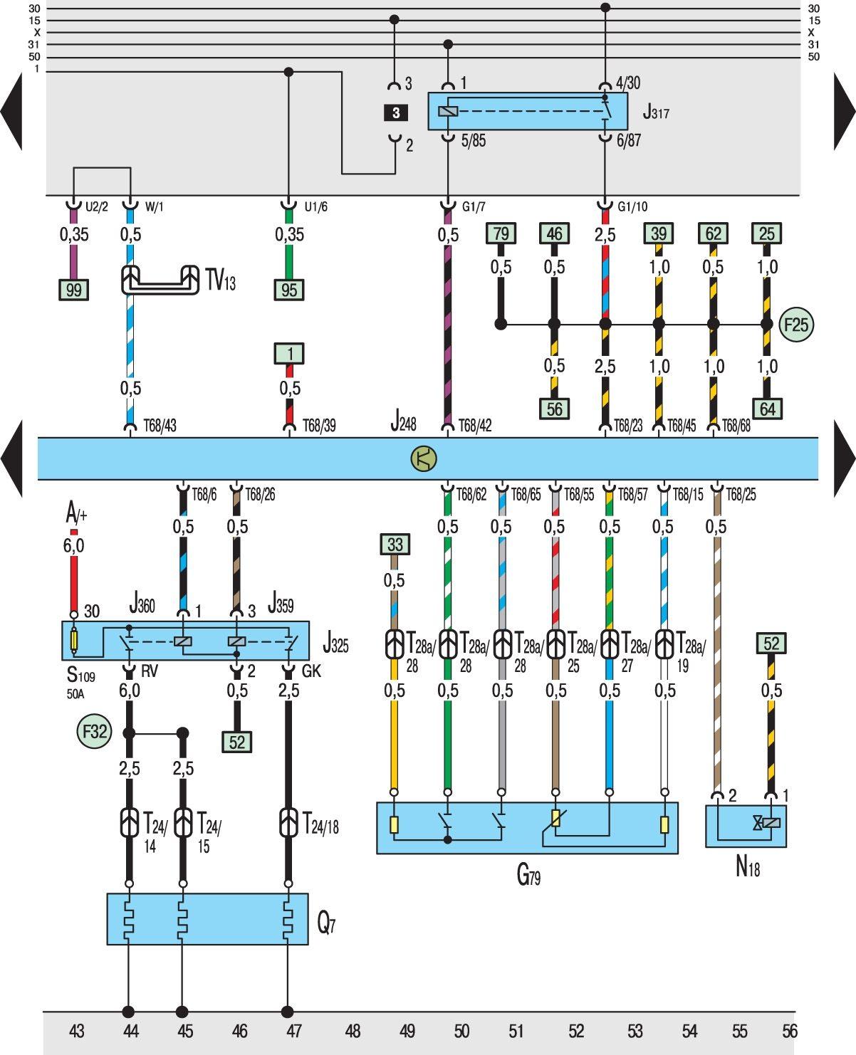 Гольф 4 и схема
