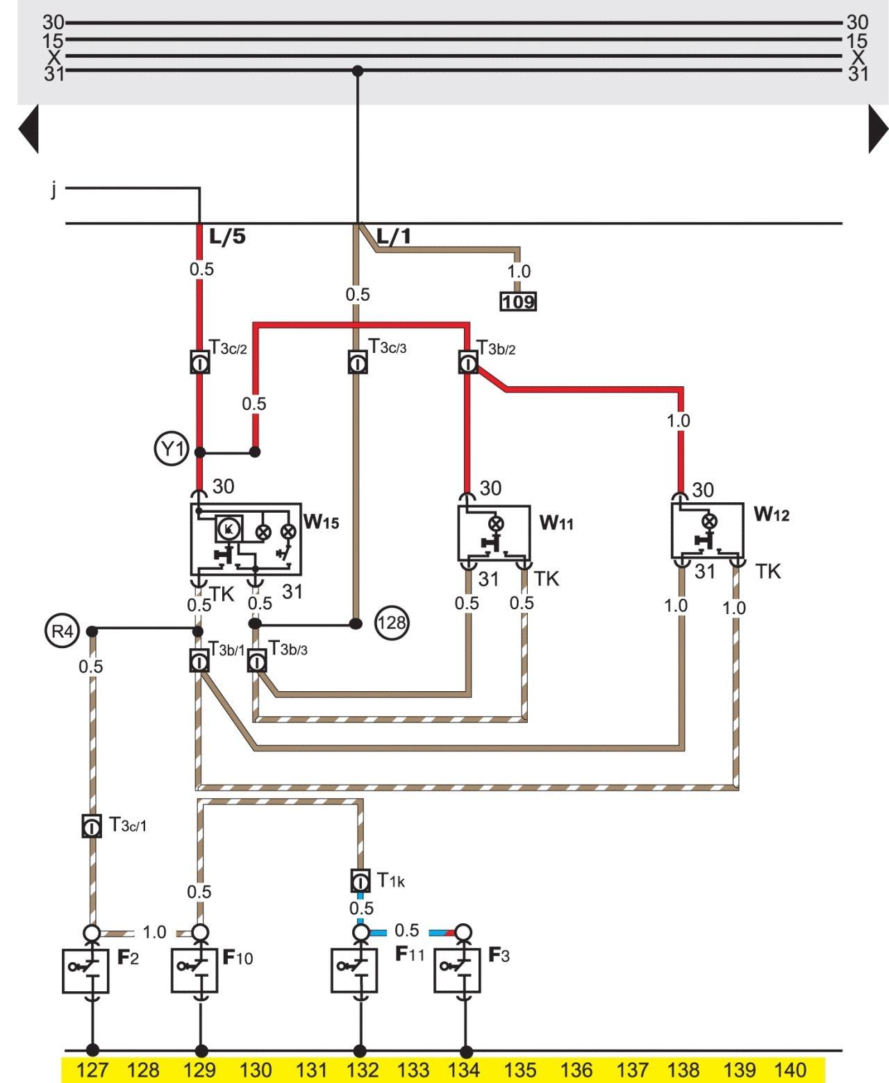 электросхема кондиционера фольксваген пассат b3