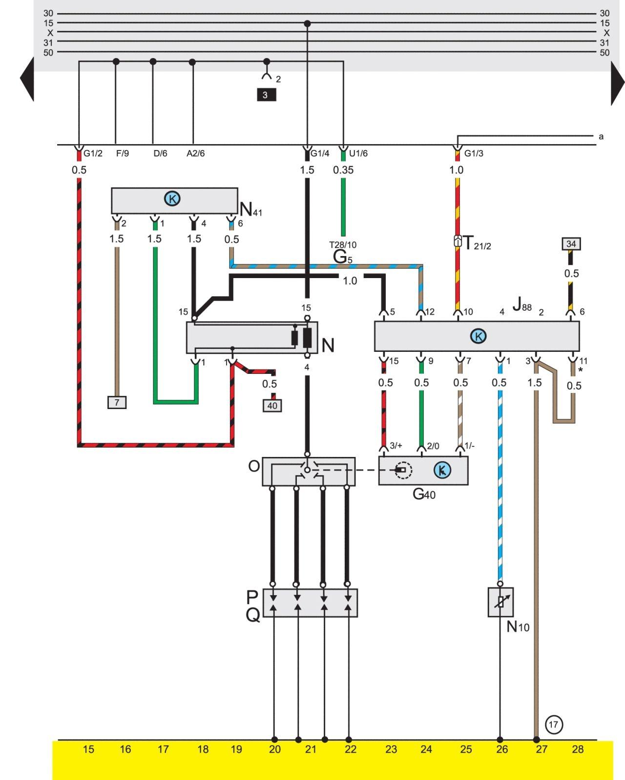 Схема подключения инжектора на гольфе