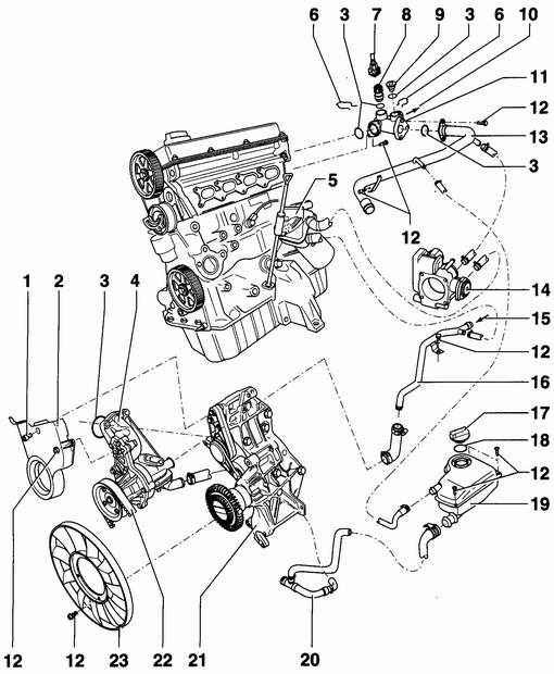 Система охлаждения двигателя ланос 1.5 схема фото 694