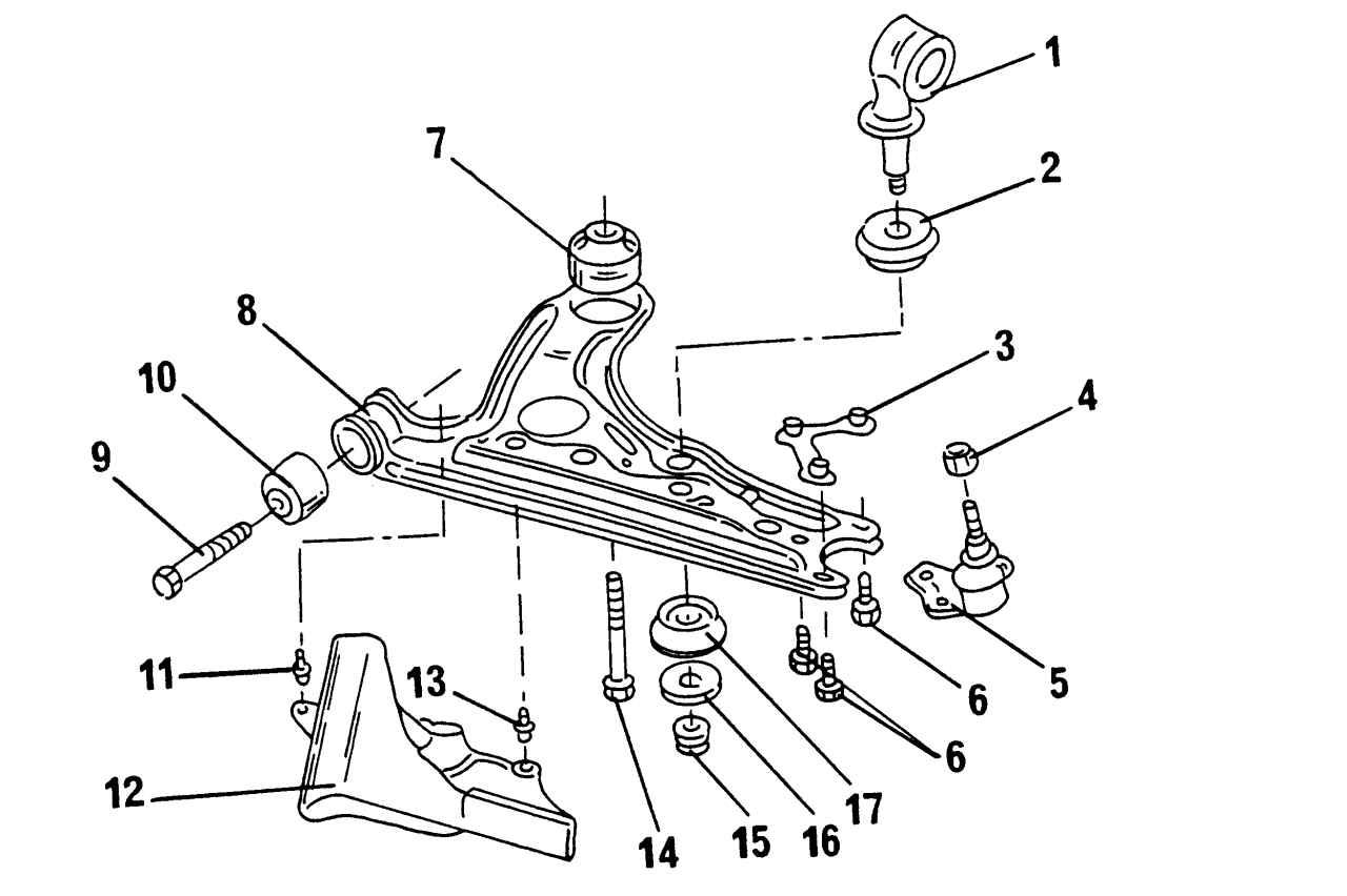 Ходовая часть фольксваген поло седан схема
