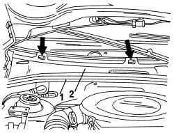 Снятие и установка правого водоотбойного щитка