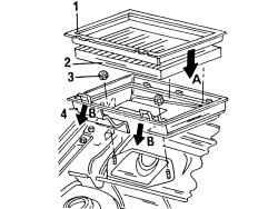 Снятие и установка фильтра для улавливания пыли