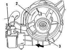 Установка и снятие вентилятора отопителя