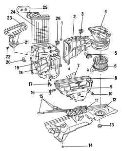 Внутренние детали системы отопления и вентиляции