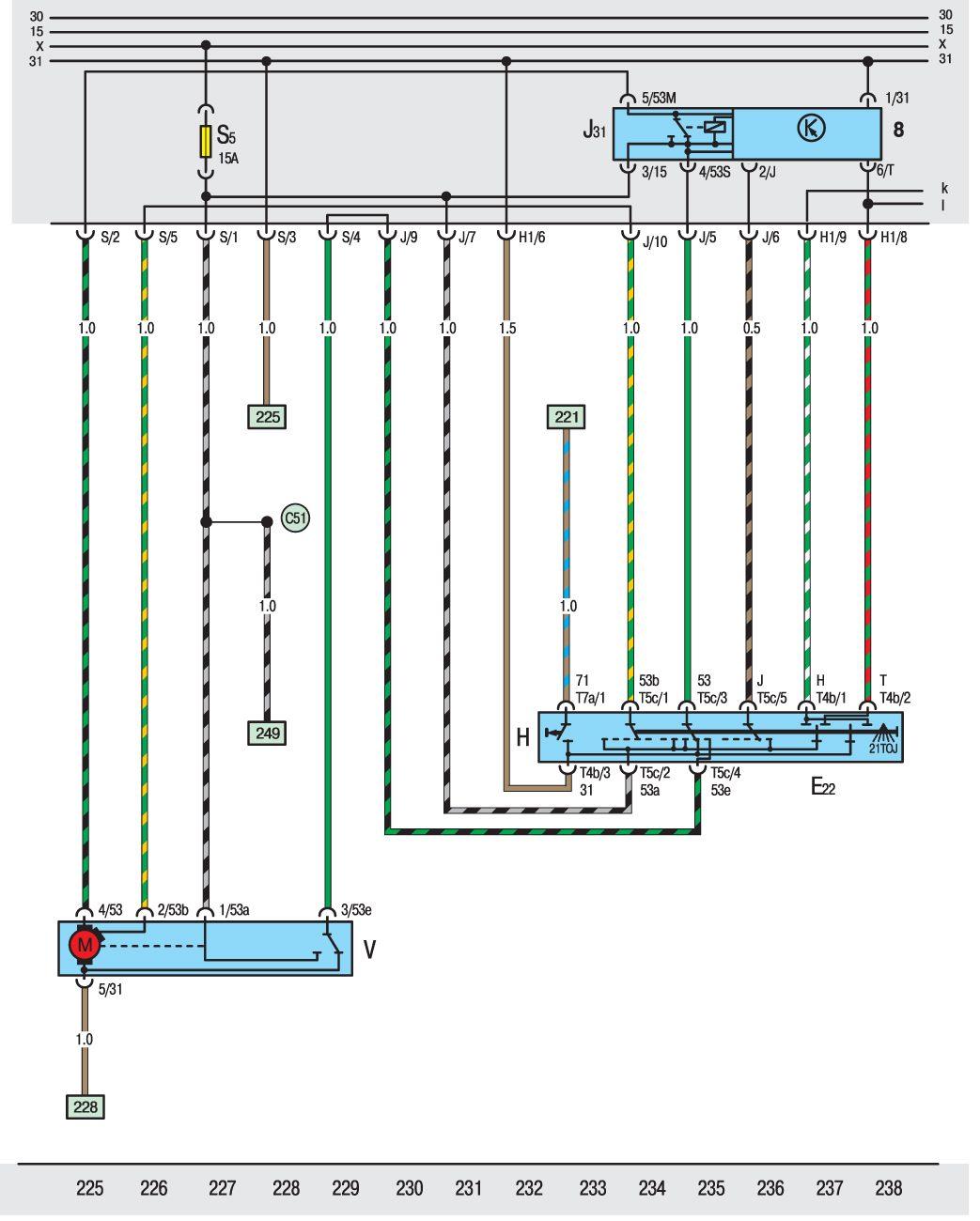Схема автомобиля Фольксваген Транспортёр.